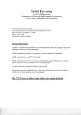 ECSE 330 2004 Final Exam Solutions