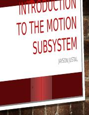 Introduction to the motion Subsystem.pptx