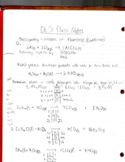 Class Notes on Stoichiometry