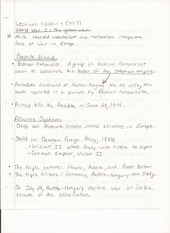 Humanities Lecture Notes Chapter 11 World War 1- The Great War
