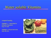 Lecture Notes set 11 vitamins water solunle