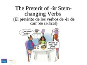 Verbs with irregular forms in the preterit (1)