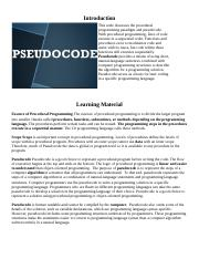 Intellipath 1- Problem  Solving Programming Concepts-Pseudocode.docx