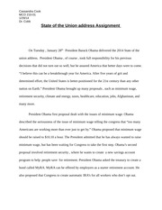 Fifth State of Union address Assignment-3