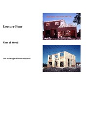 Lecture 4-Uses of Wood