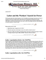 H102 Lecture 07_ Labor and the Workers' Search for Power