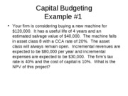 Lecture 9- Capital Budgeting Part 2