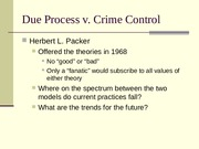 due process vs crime control essays