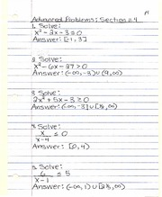 Advanced Problems Section 11.4