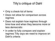 tilly discussion notes