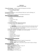 CHFD 2200 Study Guide 1