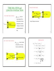 2. derivation of time dilation n length contraction