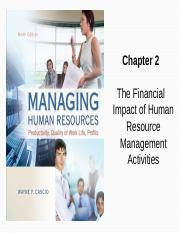 Chapter 2 The Financial Impact of HR Management Activities
