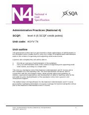 CfE_Unit_N4_AdministrationandIT_AdministrativePractices