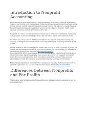 Introduction to Nonprofit Accounting.docx