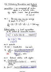 Permutations and Factorial Notes
