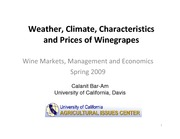 Wine Economics - Weather, Climate, Characteristics and Prices of Winegrapes-revised