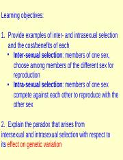 Difference between inter and intra sexual selection