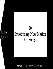 Marketing Management Chapter 20
