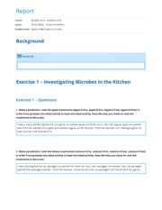 Food Safety – Experimentation report