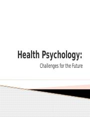 Future of Health Psych