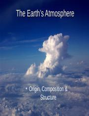 Week 2 - Composition, Structure of Atmos.ppt