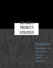 DE MAR'S PRODUCT STRATEGY.pptx