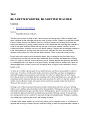 Be a better writer by M  Grace