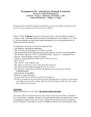 Mgmt 200 Fall 2011 exam 2 advice