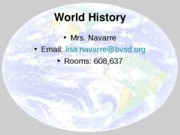 World History Introduction