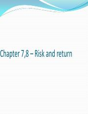 Chapter 7,8 – Risk and return.pdf