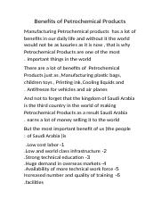 Benefits of Petrochemical Products) خالد(.docx