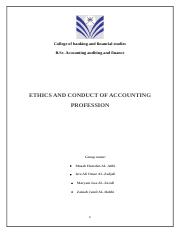 ethics of accounting - case study
