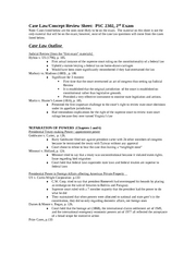 Review Sheet - 2nd Exam - Spring 2008 (incl Marbury - activism)