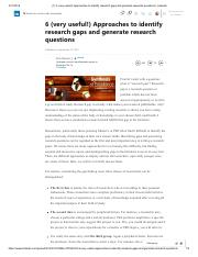 6 (very usef Approaches to identify research gaps and generate research questions _ LinkedIn.pdf