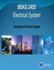 Chapter 1 Overview of Power System