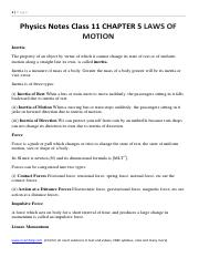 Physics Notes Class 11 CHAPTER 5 LAWS OF MOTION.pdf