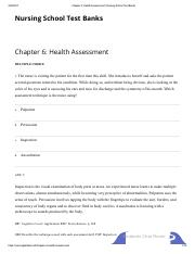 Chapter 6_ Health Assessment _ Nursing School Test Banks