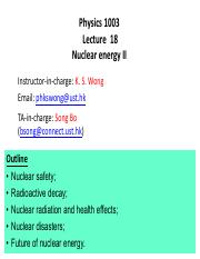 Lecture18 Nuclear Eng II