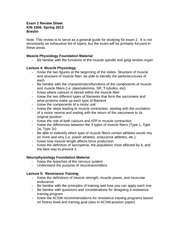 Exam 2 Review Sheet- Spring 2013