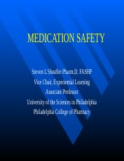 PA462 Med Safety Fall 2014
