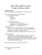 BSC 2093 A&P I Lecture Exam 3 Review Sheet.doc