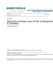 Aviation Law (Bachelor)
