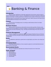 Banking and finance.docx