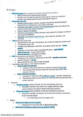 BIO212 chapter 12 nervous system part 1 class notes