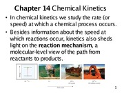 Chapter 14- Chemical Kinetics
