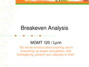 Marketing.Breakeven.2006