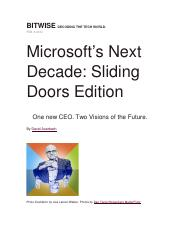 Microsoft- Two Visions of the Future.docx