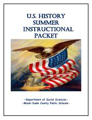 US HISTORY INSTRUCTIONAL SUMMER PACKET.pdf