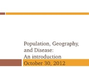 10302012-Population, geography and disease